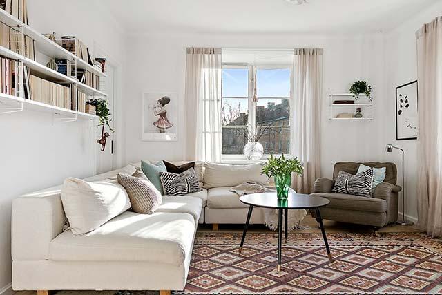sử dụng thảm trong phòng khách